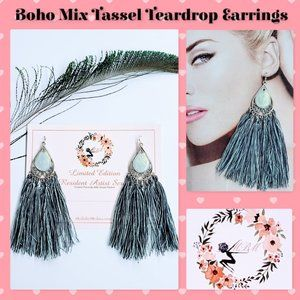 🆕Boho Mix Tassel Teardrop Earrings